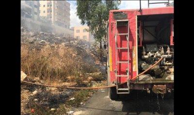 بالصورة: حريق في النبطية