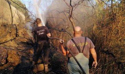 إخماد حريق في نهر إبرهيم