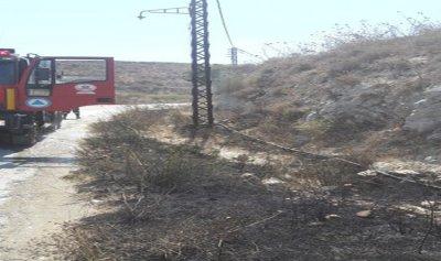 بالصورة: حريق اعشاب وبلان ونفايات في كفرحزير