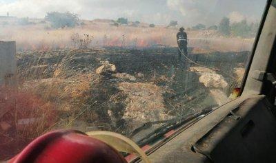 بالصورة: حريق في مارون الراس