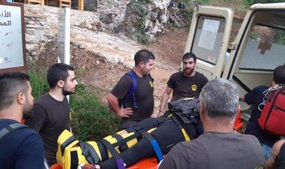 انقاذ مواطنة سقطت بالقرب من بحيرة كسروانية