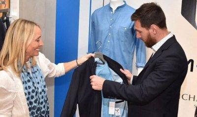 بالصور: ميسي يقدم علامته التجارية من الملابس