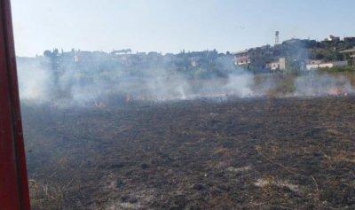 بالصور: حريق في تكريت