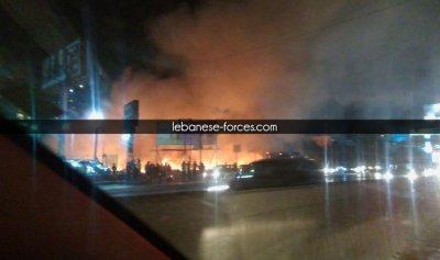 """بالصور: حريق كبير في انطلياس قرب شركة """"ريم"""""""