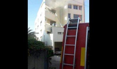 بالصورة: حريق داخل شقة في صربا