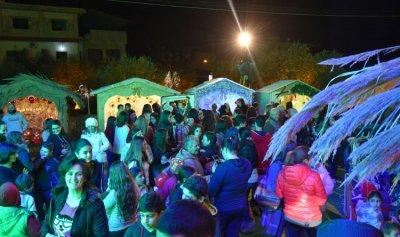 إفتتاح القرية الميلادية في كفرعقا