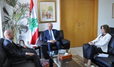 زعيتر استقبل السفير الإيطالي في لبنان