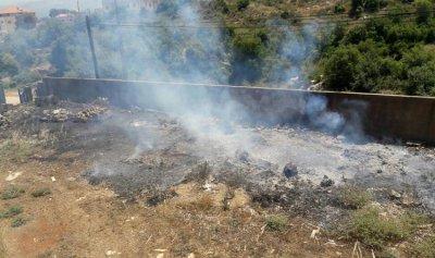 حريق في خراج حارة الخاصة الكورانية