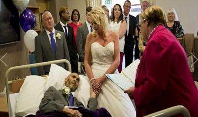 """بالصورة: تزوّجا """"قبل أن يفرّقهما الموت""""…"""
