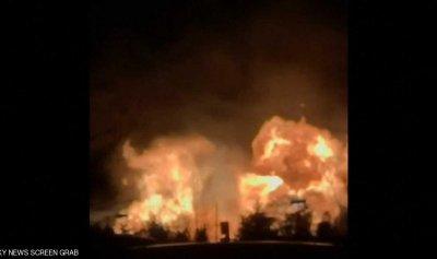 بالفيديو: إنفجارات ضخمة بعد تسرب غاز بمدينة أميركية