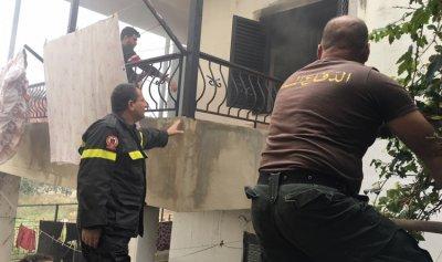 حريق في منزل في زغرتا