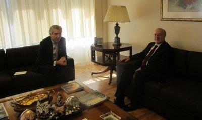 وزير الثقافة استقبل سفير تركيا في زيارة وداعية