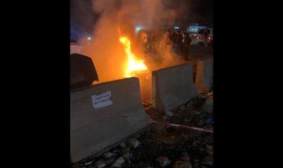 بالصورة: احترق ودراجته في جبيل