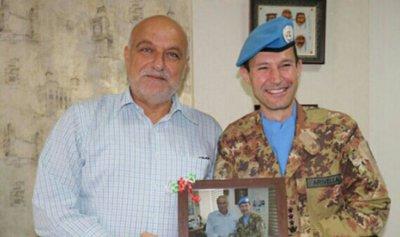 مسؤول في الكتيبة الايطالية زار بلدية صور مودعًا