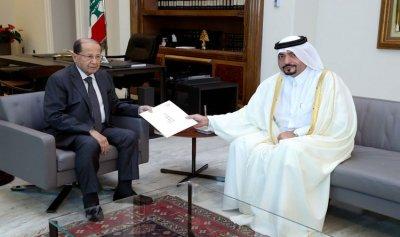 رسالة من أمير قطر الى عون
