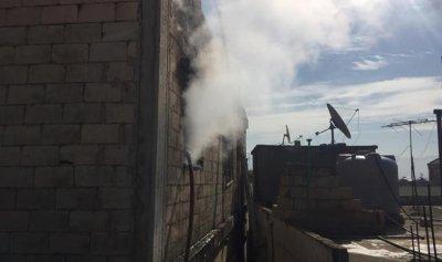 حريق داخل منزل في حوش الحريمة