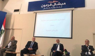 المرعبي: نرفض توطين السوريين والفلسطينيين