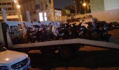 156 دراجة مخالفة في بيروت