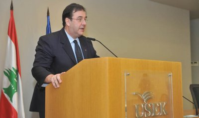 السفير الفرنسي حاضر في جامعة الروح القدس