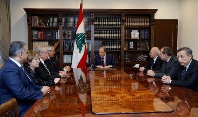 الرئيس عون يستقبل رئيس واعضاء مجلس القضاء الاعلى