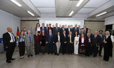 محاضرة عن احتلال المانيا المرتبة 15 على المؤشر العالمي لريادة الأعمال والتنمية في جامعة الروح القدس