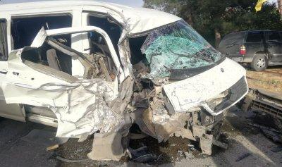 بالصور: حادث سير مروّع على طريق اللبوة