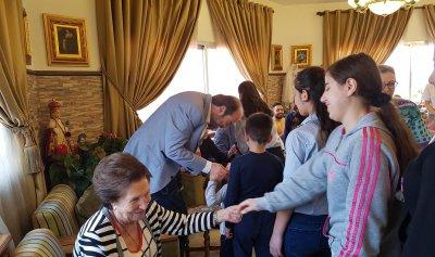 بالصور: عقيص زار بيت سيدة العطايا