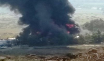حريق في معمل بلاستيك في الوزاني