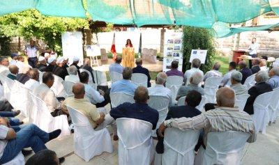 """صندوق """"التنمية الاقتصاديّة والاجتماعيّة"""" يوزع شهادات إرشاد زراعي في مجال ادارة الموارد المائية"""