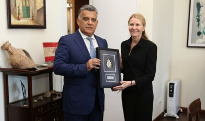 اللواء ابراهيم استقبل سفير استراليا في لبنان