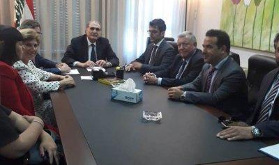 جريصاتي التقى وفد مجلس كتاب العدل الفرنسي