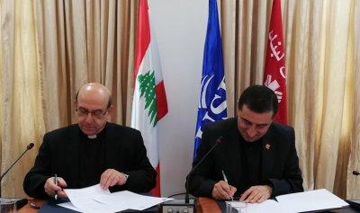 """تعاون بين رابطة """"كاريتاس لبنان"""" وجامعة الروح القدس"""