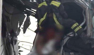 بالفيديو: إنقاذ شخص بعد أيام من انهيار جسر جنوى
