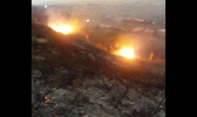 حريق في جبل البيرة عكار والدفاع المدني يعمل على اخماده