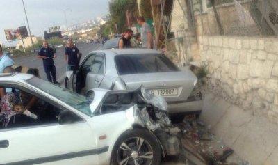 بالصورة: جريحان في حادث سير على طريق الصفرا – كسروان