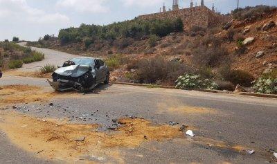 بالصور: قتيل في حادث سير بجزين