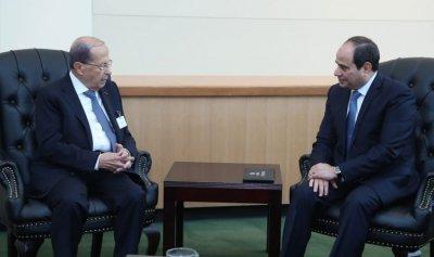 السيسي: ندعم توجهات لبنان لإعادة النازحين الى المناطق الامنة