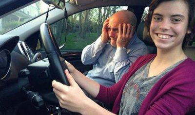 بالصور: هكذا انتهى درس تعليم القيادة!