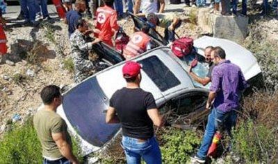 بالصورة: مقتل عميد متقاعد في حادث سير على أوتوستراد الزهراني