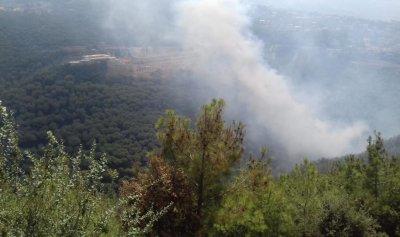 بالصور: حريق كبير في عين الريحانة