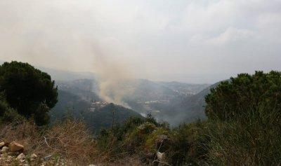 عمليات مستمرة لإطفاء حريق عين الريحانة