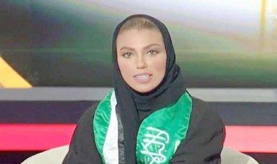 بالفيديو: أول مذيعة في القناة السعودية الرسمية