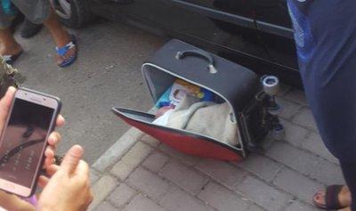 بالصور: رضيع جثّة في حقيبة سفر!