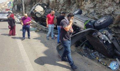 حادث سير مروع على اوتوستراد الجية