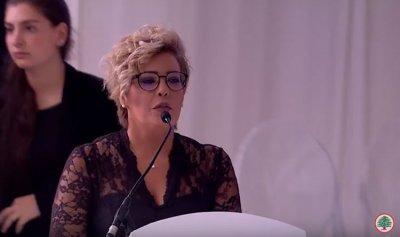 """بالفيديو: كلمة السيدة نسرين ديب خلال قداس شهداء """"المقاومة اللبنانية"""" في معراب"""