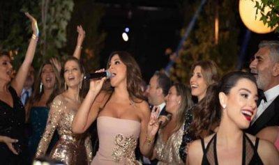 بالفيديو والصور: إليسا ونانسي وعاصي يتألقون في زفاف نجل إيلي صعب