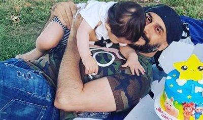قصي خولي يحتفل بعيد ميلاد ابنه