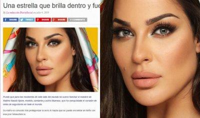 الصحف الإسبانية تتغزل بجمال نادين نسيب نجيم