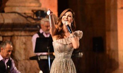 نانسي عجرم تحيي حفلا غنائيا في جرش