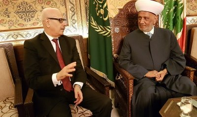 دريان عرض مع سفير المغرب تعزيز العلاقات بين الدول والشعوب الاسلامية